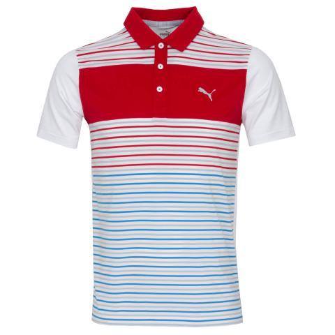 Puma Golf Floodlight Polo Shirt Barbados Red
