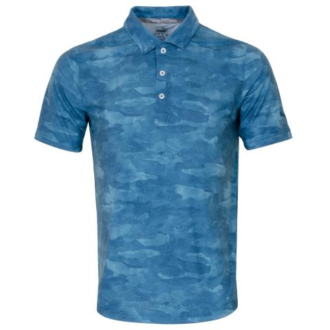 Puma Solarised Camo Polo Shirt Digi Blue