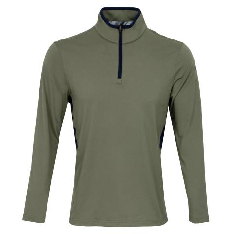 Puma Golf Rotation Zip Neck Sweater Deep Lichen Green