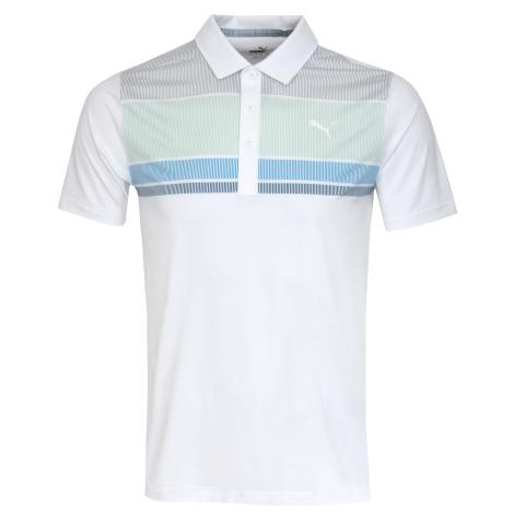 Puma Golf Road Map Polo Shirt Mist Green/Ibiza Blue