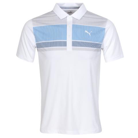 Puma Golf Road Map Polo Shirt Ibiza Blue/Dark Denim