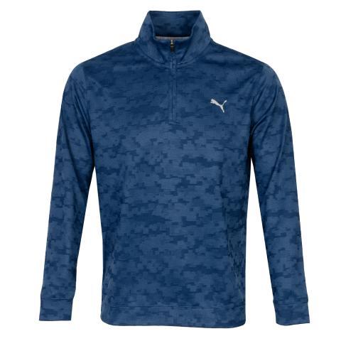 Puma Alterknit Digi Camo Zip Neck Sweater