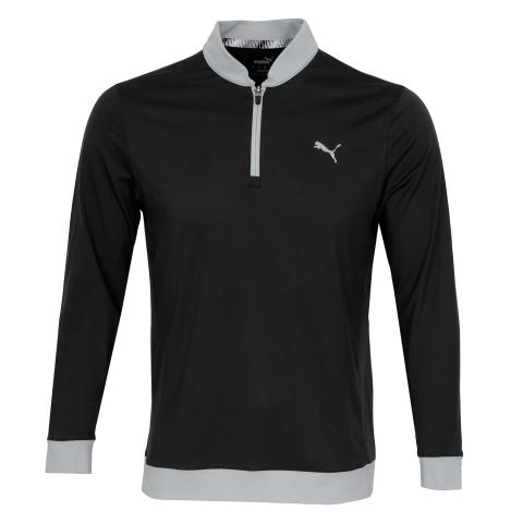 Puma Golf Rotation Stealth Zip Neck Sweater Black