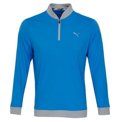 Puma Golf Rotation Stealth Zip Neck Sweater Blue
