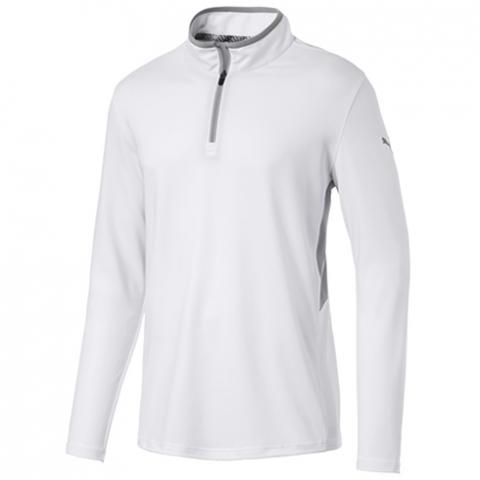 PUMA Golf Rotation Zip Neck Sweater Bright White