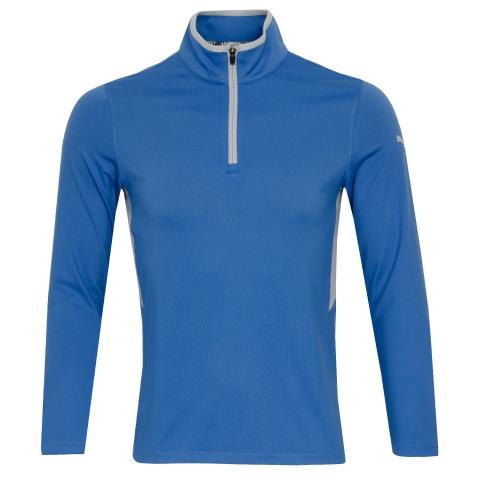 PUMA Golf Rotation Zip Neck Sweater Star Sapphire