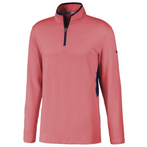 PUMA Golf Rotation Zip Neck Sweater Georgia Peach