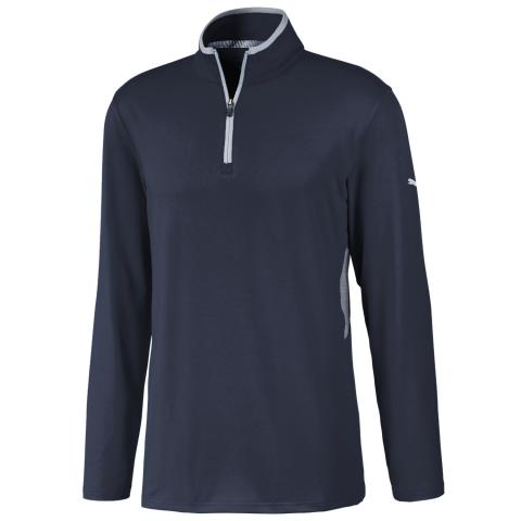 PUMA Golf Rotation Zip Neck Sweater Navy Blazer