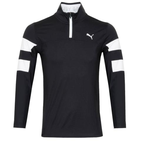 PUMA Torreyana Zip Neck Sweater Puma Black/Bright White
