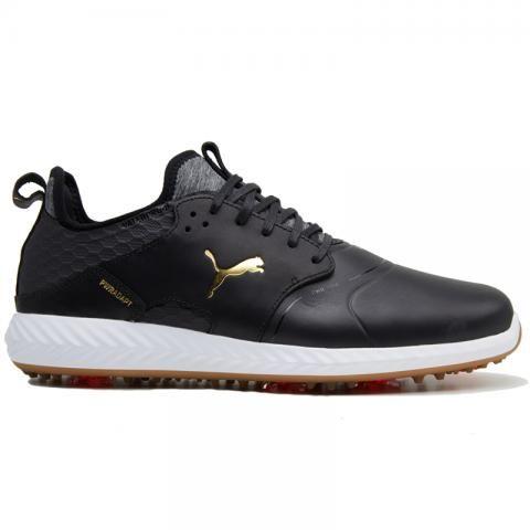 PUMA Ignite PWRADAPT Caged Crafted Golf Shoes Puma Black/Puma Team Gold