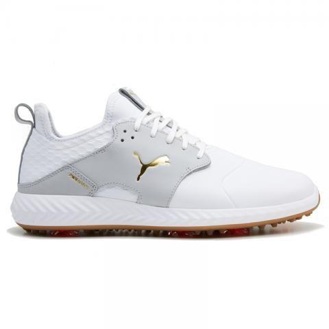 PUMA Ignite PWRADAPT Caged Crafted Golf Shoes Puma White/High Rise