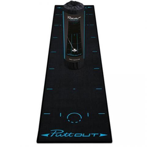 PuttOUT Pro Practice Putting Mat Black/Blue