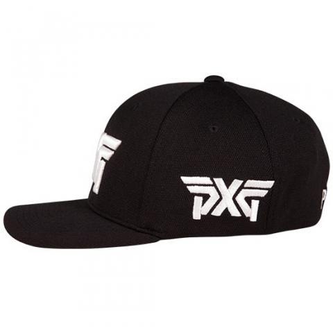 PXG Tour Flexfit Baseball Cap Black White  296d7d6d596