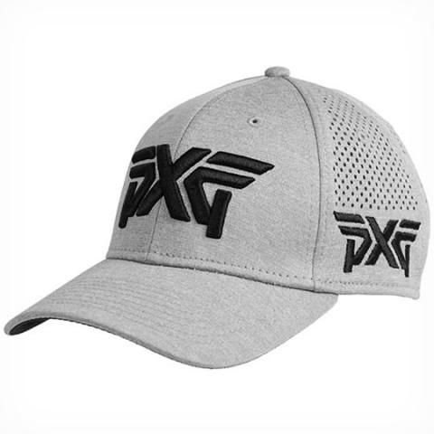 PXG Laser Mesh Shadow Tech Fitted Baseball Cap Grey  9a650b50f4d