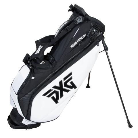 PXG Lightweight Carry Golf Stand Bag Black/White