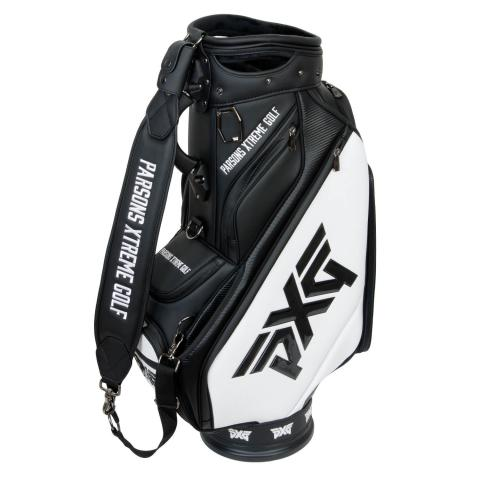 PXG Golf Tour Staff Bag Black/White