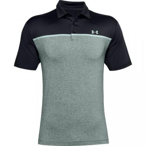 Under Armour Playoff 2.0 Polo Shirt Black/Lichen Blue/Enamel Blue