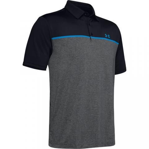 Under Armour Playoff 2.0 Polo Shirt Black/Pitch Gray/Electric Blue