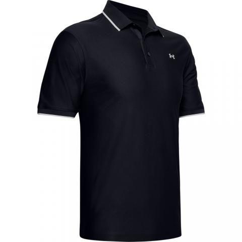 Under Armour Playoff Pique Polo Shirt Black/Halo Gray