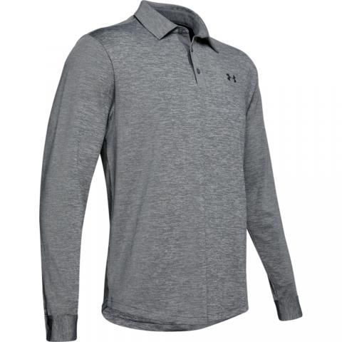 Under Armour Playoff 2.0 Long Sleeved Polo Shirt Pitch Gray/Black
