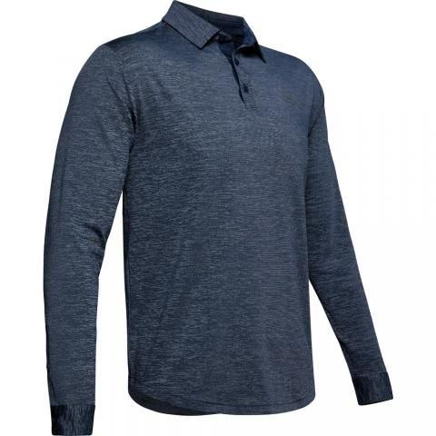 Under Armour Playoff 2.0 Long Sleeved Polo Shirt Academy/Pitch Gray
