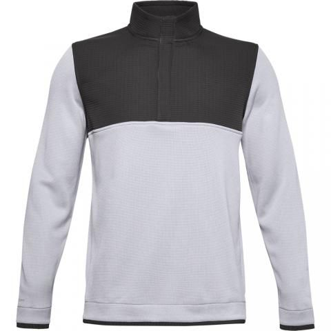 Under Armour Storm SweaterFleece Snap Neck Sweater Jet Grey/White