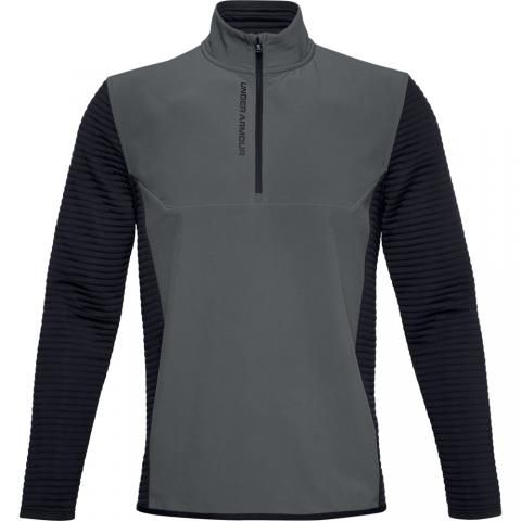 Under Armour Storm Evolution Daytona Zip Neck Sweater Pitch Gray/Black
