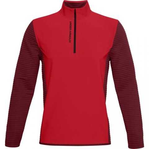Under Armour Storm Evolution Daytona Zip Neck Sweater Versa Red/Cordova/Black