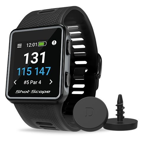 Shot Scope V3 GPS Golf Watch and Game Tracker Black