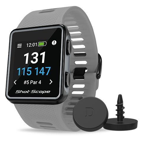 Shot Scope V3 GPS Golf Watch and Game Tracker Grey