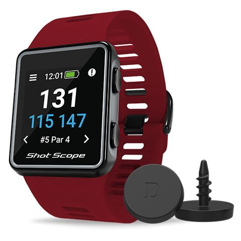 Shot Scope V3 GPS Golf Watch and Game Tracker Red
