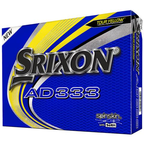 Srixon AD333 Golf Balls Tour Yellow / Dozen