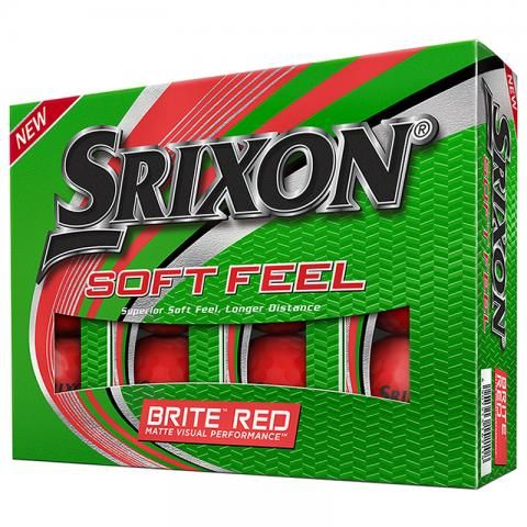 Srixon Soft Feel Brite Golf Balls Red / Dozen