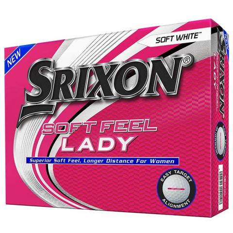 Srixon Soft Feel Ladies Golf Balls Soft White / Dozen