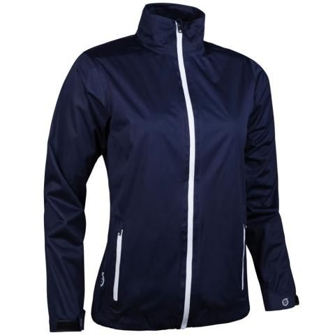 Sunderland Whisperdry Tech-Lite Ladies Waterproof Golf Jacket Navy/White