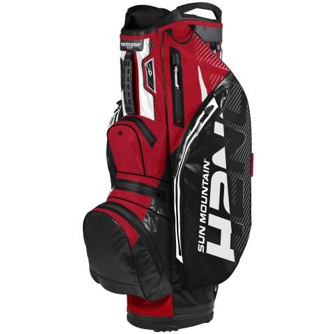 Sun Mountain 2020 H2NO Lite Waterproof Golf Cart Bag Black/Red/White