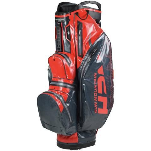 Sun Mountain 2020 H2NO Lite Waterproof Golf Cart Bag Gunmetal/Red