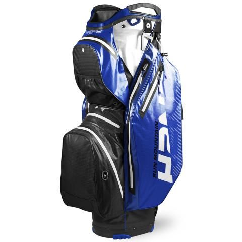 Sun Mountain 2020 H2NO Staff Cart Waterproof Golf Cart Bag Black/Blue/White