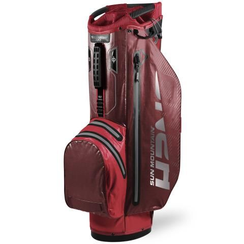 Sun Mountain 2020 H2NO Superlite Waterproof Golf Cart Bag Red/Garnet