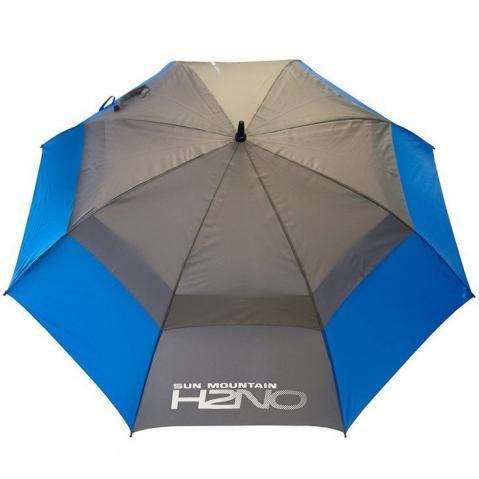 Sun Mountain H2NO 68 Inch Double Canopy Golf Umbrella Blue/Grey