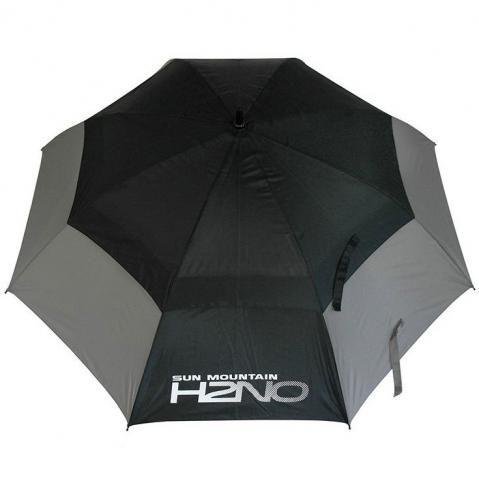 Sun Mountain H2NO 68 Inch Double Canopy Golf Umbrella Grey/Black