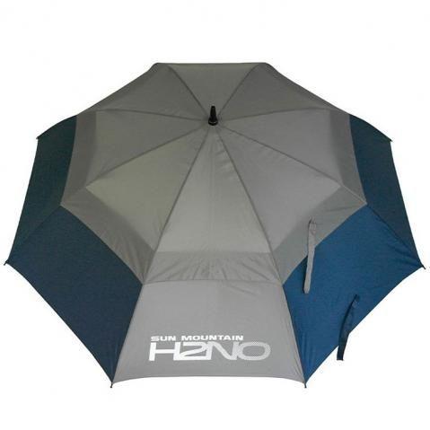 Sun Mountain H2NO 68 Inch Double Canopy Golf Umbrella Navy/Grey