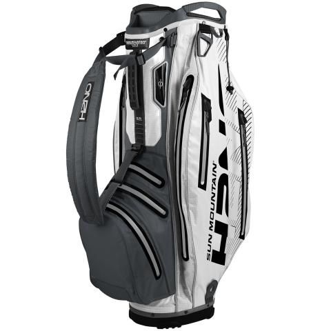 Sun Mountain 2020 H2NO Elite Waterproof Golf Cart Bag Grey/White