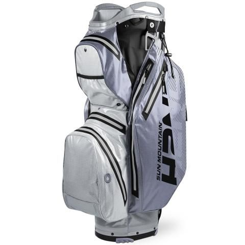 Sun Mountain 2020 H2NO Staff Cart Waterproof Golf Cart Bag Cadet/Nickel