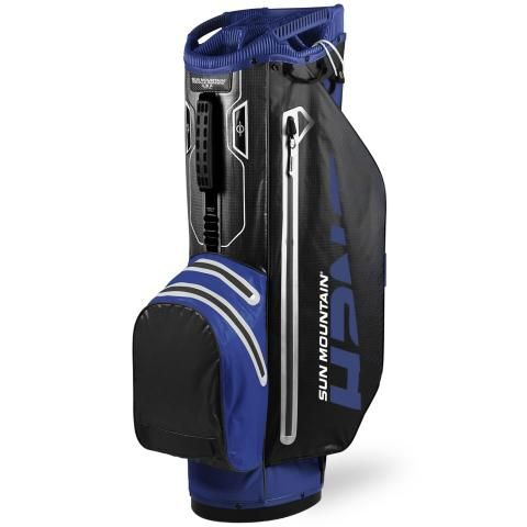 Sun Mountain 2020 H2NO Superlite Waterproof Golf Cart Bag Blue/Black