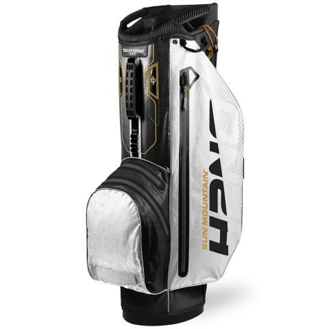 Sun Mountain 2020 H2NO Superlite Waterproof Golf Cart Bag Black/White/Gold