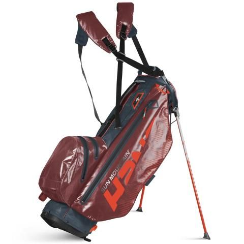Sun Mountain 2020 H2NO Superlite Waterproof Golf Stand Bag Gunmetal/Garnet/Inferno