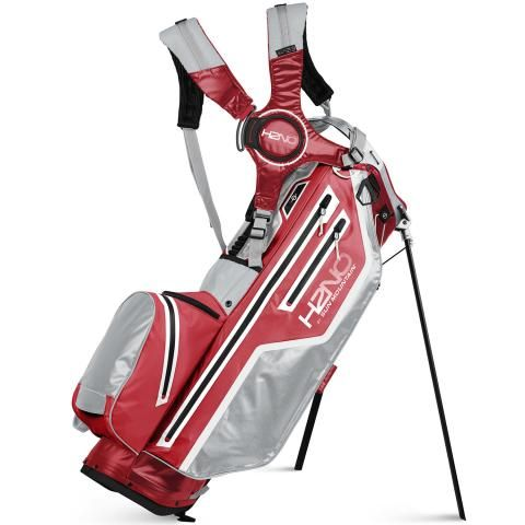 Sun Mountain 2021 H2NO 14 Way Waterproof Golf Stand Bag Red/Cadet/White