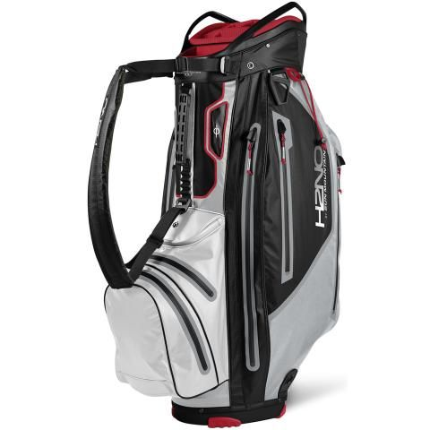 Sun Mountain 2021 H2NO Elite Waterproof Golf Cart Bag Black/Cadet/White/Red