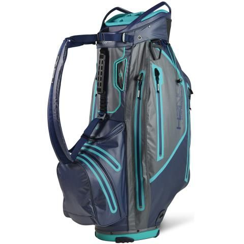 Sun Mountain 2021 H2NO Elite Waterproof Golf Cart Bag Navy/Gunmetal/Teal